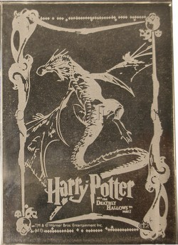 Harry Potter and the Deathly Hallows Part 2 Autograph Edition Crystal Case Topper Card [#CT2]