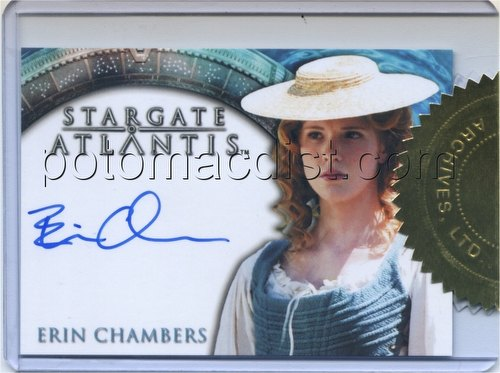 Stargate Atlantis Season 1 Trading Cards Case Card [Erin Chambers Autograph]