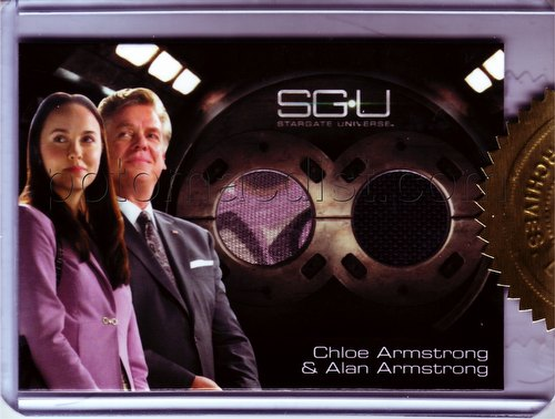 Stargate Universe Season 1 Trading Cards Chloe Armstrong/Alan Armstrong Dual Costume Card (201/333)