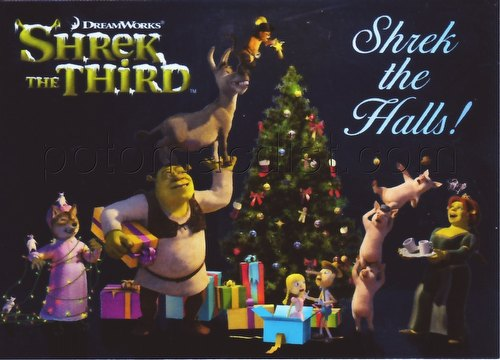 "Shrek the Third Movie Inkworks Holiday ""Shrek the Halls!"" Foil Promo Card [#H2006]"