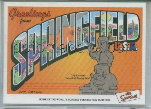 Simpsons Anniversary Trading Cards Case Card [#SC-1]