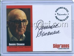 The Sopranos: Season 1 Dominic Chianese (Junior Soprano) Autographed Card