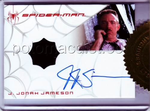Spiderman (Spider-Man) 3 Movie J. Jonah Jameson Autograph/Costume 2-Case Incentive Card