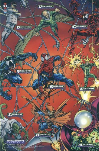Spiderman 1994 [94] Case Insert Jumbo MasterPrints Trading Card Set [9 cards]