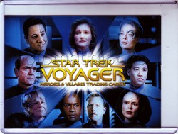 Star Trek: Voyager Heroes & Villains Trading Cards Case Topper Card [CT1]