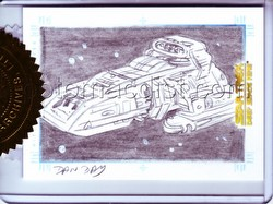 The Quotable Star Trek: Deep Space Nine Dan Day Sketchafex Case Topper Card