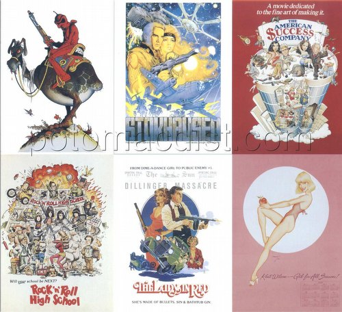 William Stout Ser. 2 Poster Worlds Case Insert 6-Card Uncut Sheet [#s 5, 20, 33, 49, 62, 87]