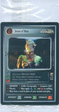 Star Trek CCG: Reflections Case Card [Seven of Nine]