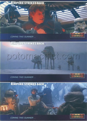 Star Wars: The Empire Strikes Back Widevision Trading Cards 3-Card Promo Panel