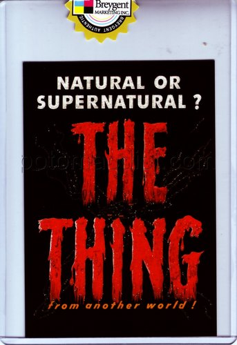 The Vintage Poster Collection: Classic Sci-Fi & Horror Poster The Thing Case Topper Card [CT1]