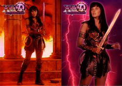Xena 1 Trading Cards Refractor Set [#C1 & #C2]