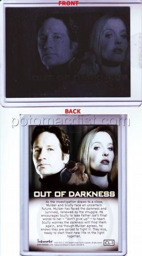 "The X-Files: I Want To Believe ""Out of Darkness"" Case Card [#CL-1]"