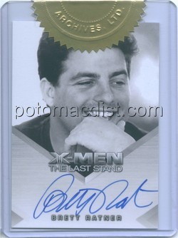 X-Men 3: The Last Stand Movie Case Topper Card (Brett Ratner Autograph)