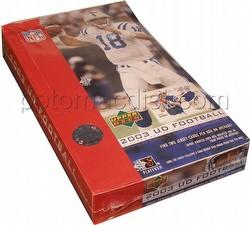 03 2003 Upper Deck Football Cards Box [Hobby]