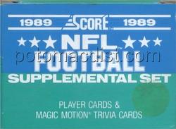 1989 Score Supplemental Update Football Card Set