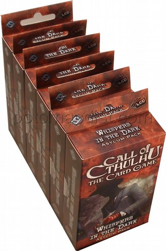 Call of Cthulhu LCG: Yuggoth Cycle - Whispers in the Dark Asylum Pack Box [6 packs]
