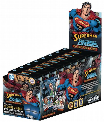 DC Dice Masters: Superman Kryptonite Crisis Dice Building Game Countertop Draft Pack Box