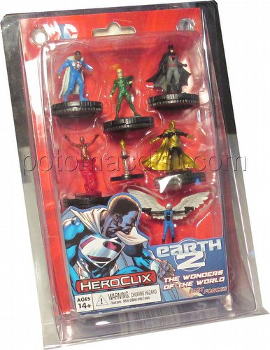 HeroClix: DC Superman and Wonder Woman Earth 2 - Wonders of the World Fast Forces Pack