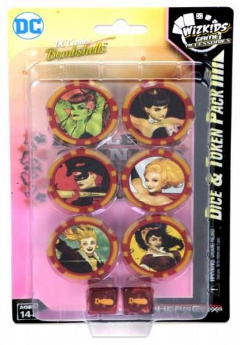 HeroClix: DC Harley Quinn and the Gotham Girls Dice & Token Pack