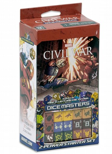 Marvel Dice Masters: Civil War Dice Building Game Starter Set Box