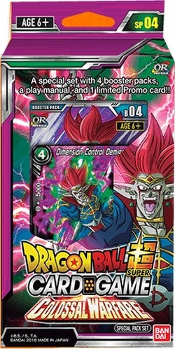 Dragon Ball Super Trading Card Game Colossal Warfare (Series 4) Special Pack Box