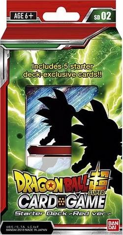 Dragon Ball Super Trading Card Game Series 3 Red Starter Deck Box