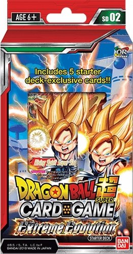 Dragon Ball Super Trading Card Game Extreme Evolution Starter Deck Box