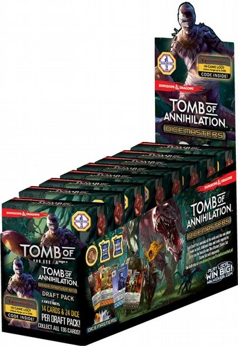 Dungeons & Dragons Dice Masters: Tomb of Annihilation Dice Building Game Countertop Draft Pack Box