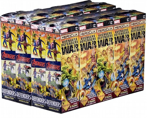 HeroClix: Marvel Avengers/Defenders War Booster Case [20 boosters]