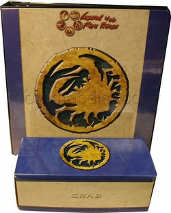 Legend of the Five Rings [L5R] CCG: Three-Ring Binder and Card Storage Box [Crab Clan]