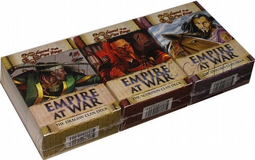 Legend of the Five Rings [L5R] CCG: Empire at War Starter Deck Set [Dragon, Scorpion, Unicorn]