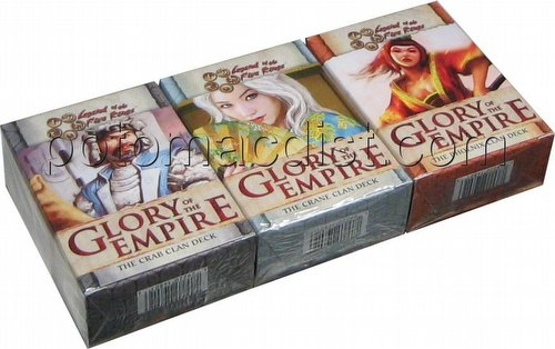 Legend of the Five Rings [L5R] CCG: Glory of the Empire Starter Deck Set [Crab, Crane, Phoenix]