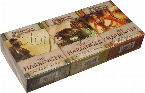 Legend of the Five Rings [L5R] CCG: The Harbinger Starter Deck Set [Mantis, Phoenix, Dragon]