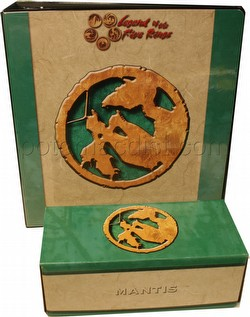 Legend of the Five Rings [L5R] CCG: Three-Ring Binder and Card Storage Box [Mantis Clan]