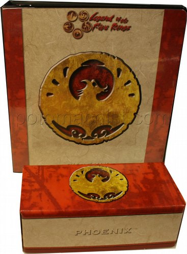 Legend of the Five Rings [L5R] CCG: Three-Ring Binder and Card Storage Box [Phoenix Clan]