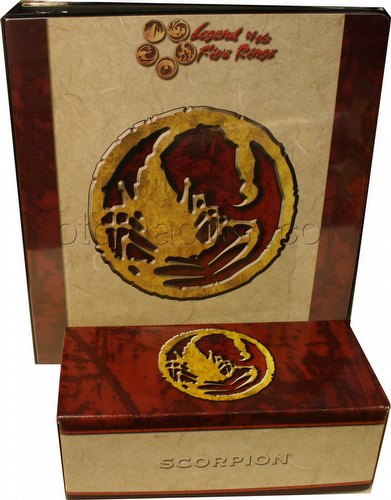 Legend of the Five Rings [L5R] CCG: Three-Ring Binder and Card Storage Box [Scorpion Clan]