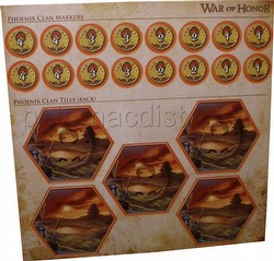 Legend of the Five Rings [L5R] CCG: War of Honor Phoenix Clan Tiles and Markers