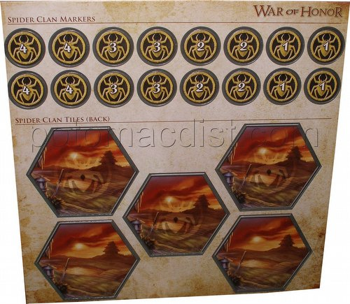 Legend of the Five Rings [L5R] CCG: War of Honor Spider Clan Tiles and Markers