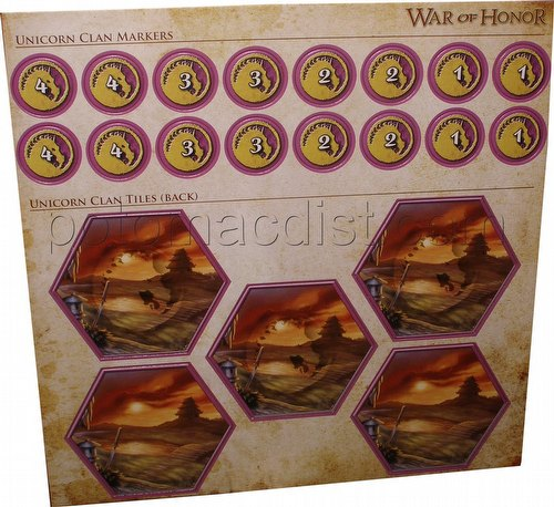 Legend of the Five Rings [L5R] CCG: War of Honor Unicorn Clan Tiles and Markers