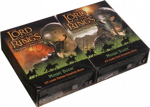 Lord of the Rings Trading Card Game: Mount Doom Starter Deck Set [Sam & Frodo decks]