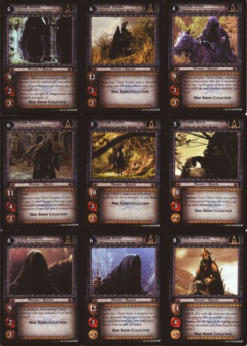 Lord of the Rings Trading Card Game: Nine Riders Promo Card Set [9 cards]