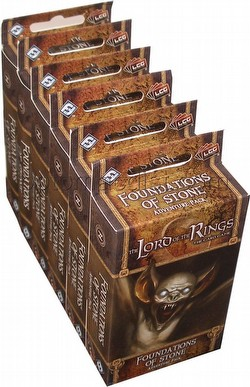 The Lord of the Rings LCG: Dwarrowdelf Cycle - Foundations of Stone Adventure Pack Box [6 packs]