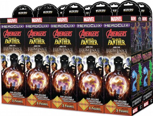 HeroClix: Marvel Secret Wars - Black Panther & The Illuminati Booster Brick [10 boosters]