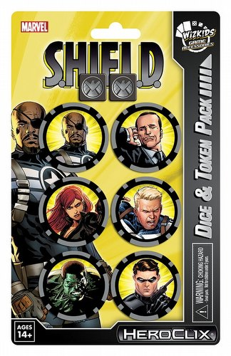 HeroClix: Marvel Nick Fury - Agent of S.H.I.E.L.D. Dice & Token Pack