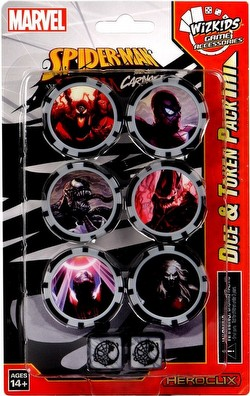 HeroClix: Marvel Spider-Man and Venom Absolute Carnage Dice & Token Pack