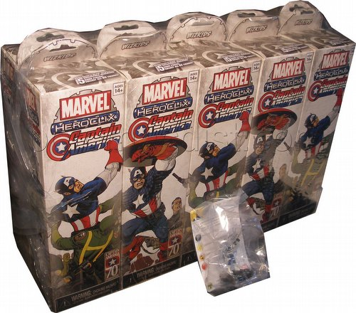 HeroClix: Marvel Captain America Booster Brick [10 boosters]