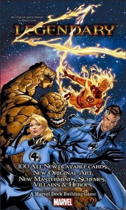 Marvel Legendary Deck Building Game Fantastic Four Expansion Box
