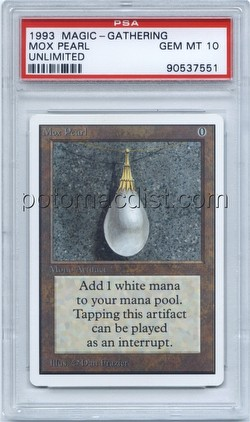 Magic the Gathering TCG: Unlimited Mox Pearl Card [Graded PSA 10]