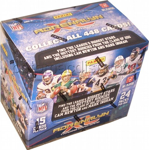 2011 Panini Adrenalyn XL Trading Card Game Football Booster Box