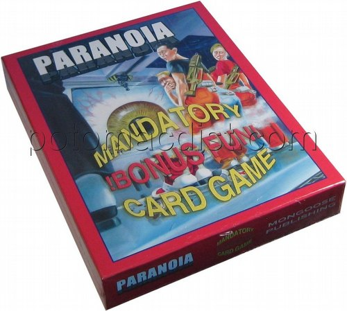 Paranoia Mandatory Bonus Fun Basic Set Card Game Box